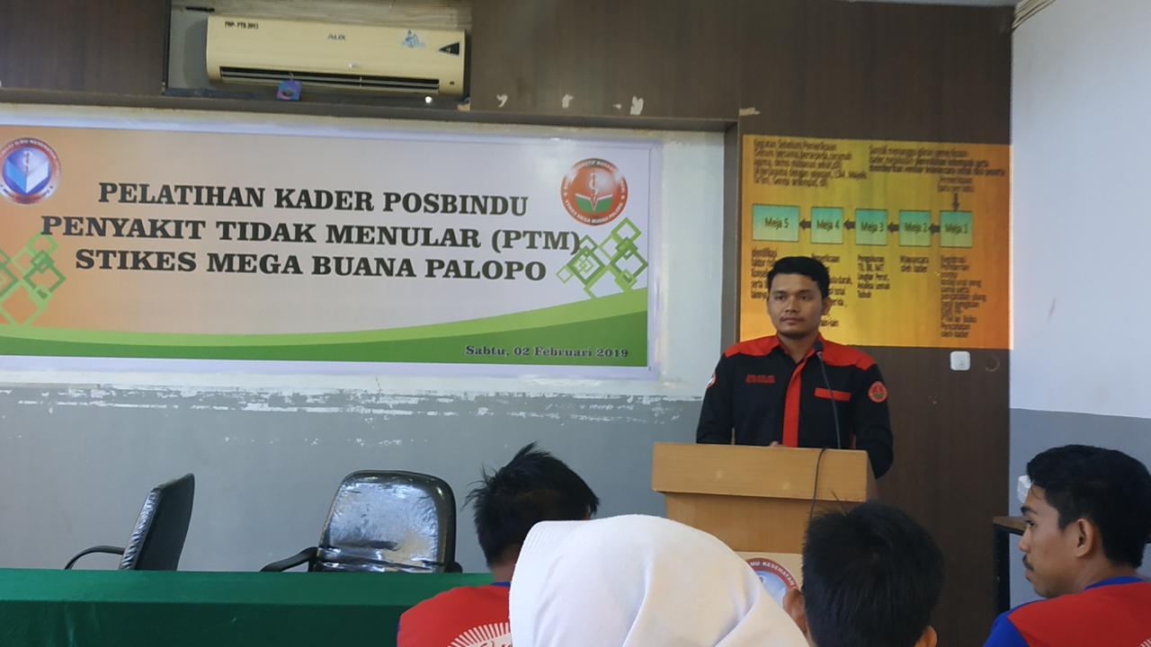 Pelatihan Kader Posbindu STIKES Mega Buana Palopo Yang Bekerja sama dengan Puskesmas Wara Utara Kota Palopo